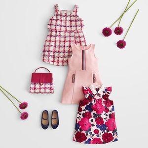 Plaid pink boucle Janie & Jack knit dress 3